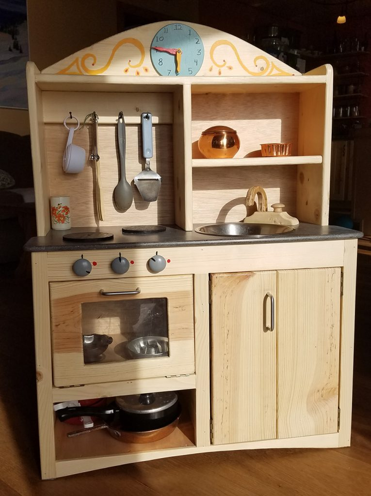 here on the homestead we try to make as many of our own goods as possible this is true for things like food furniture and even toys for the kids i m - M Kitchen